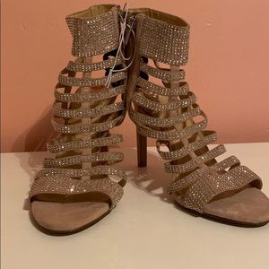 Strappy heels with sparkles